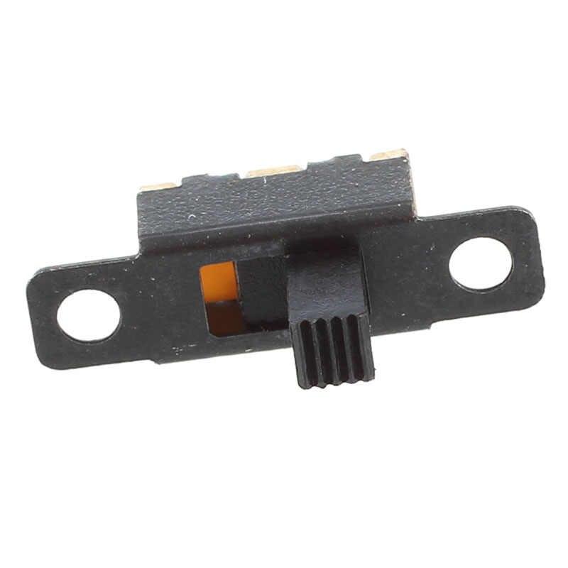 20 шт 5 в 0,3 а мини-размер черный SPDT переключатель скольжения для небольших DIY силовых электронных проектов они используется для малой мощности