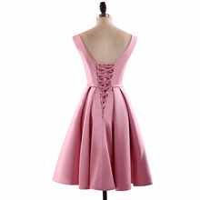 A Line V Neck Appliques Short Homecoming Dresses Mini Backless Sleeveless Homecoming Dress HFY62906