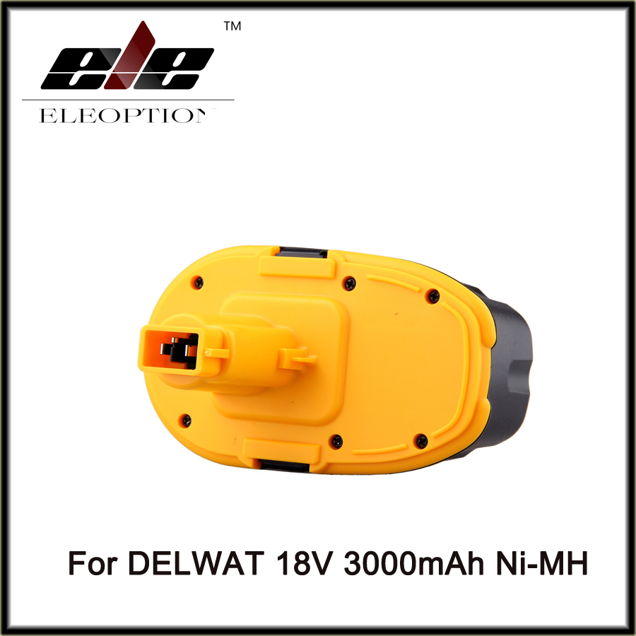 Eleoption DC9096 18V 3000mAh Battery for DeWalt Power Tool Battery Rechargeable DC9096 DE9503 DW9095 DW9096 DE9096 Ni-MH