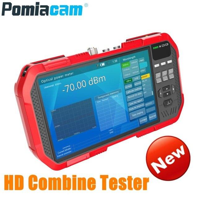 Professional HD Combine Tester DT A86 7 Inch H.265 4K IP camera tester 8MP TVI CVI 5MP AHD CVBS CCTV Tester Monitor Multimeter