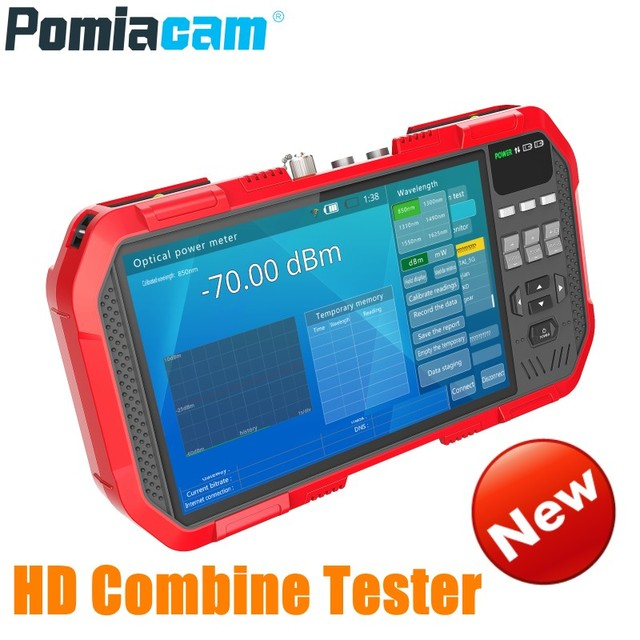 Profesyonel HD Birleştirmek Test Cihazı DT A86 7 Inç H.265 4 K IP kamera test cihazı 8MP TVI CVI 5MP AHD CVBS CCTV Test Cihazı monitör Multimetre