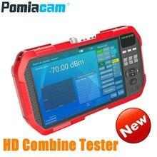 Profissional hd combinar tester DT A86 7 Polegada h.265 4 k câmera ip tester 8mp tvi cvi 5mp ahd cvbs cctv tester monitor multímetro