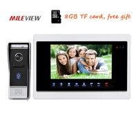 Free Shipping 720P AHD HD 10 Color Video Door Phone Intercom Unlock Record System Night Vision