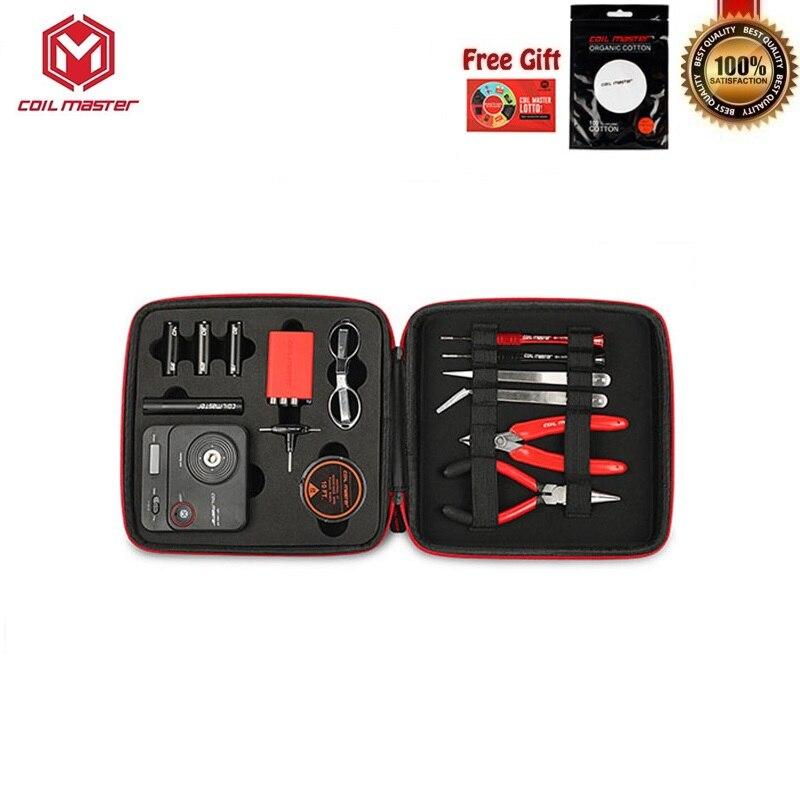 Bobine Master V3 Kit de bricolage tout-en-un CoilMaster V3 e-cigarettes Kit d'outils RDA RBA Vape réservoir atomiseur bobine sac à outils accessoires