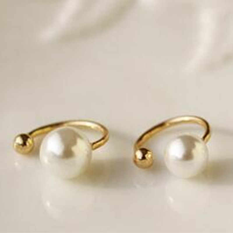 New 2018 wild horse pear imitation pearl earrings jewelry wedding girl Chinese fashion jewelry