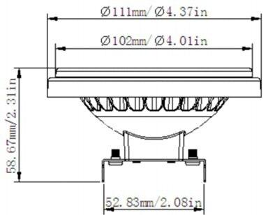 Envío gratis Ar111 G53 30 grados 15w 1300lm 12vac Cri80 blanco - Iluminación LED - foto 3