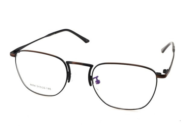 02a00185747 Titanium Alloy Retro Bronze Eyeglasses Frame Optical Custom Made  Prescription Myopia Glasses Progressive Photochromic -1 To -10