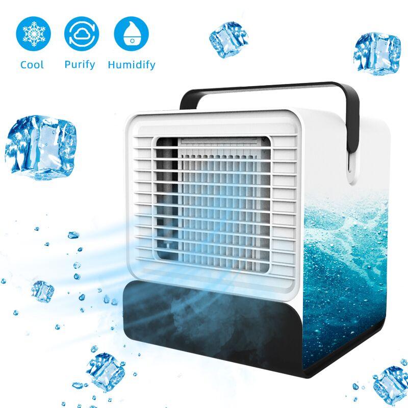USB Mini Portable climatiseur humidificateur purificateur 7 couleurs lumière bureau Air refroidissement ventilateur Air refroidisseur ventilateur pour bureau maison