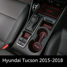 car Auto Anti Slip Dacorative Cup Sticker Gate Slot Pad Door Groove Mat For Hyundai Tucson TL 2015 2016 2017 2018