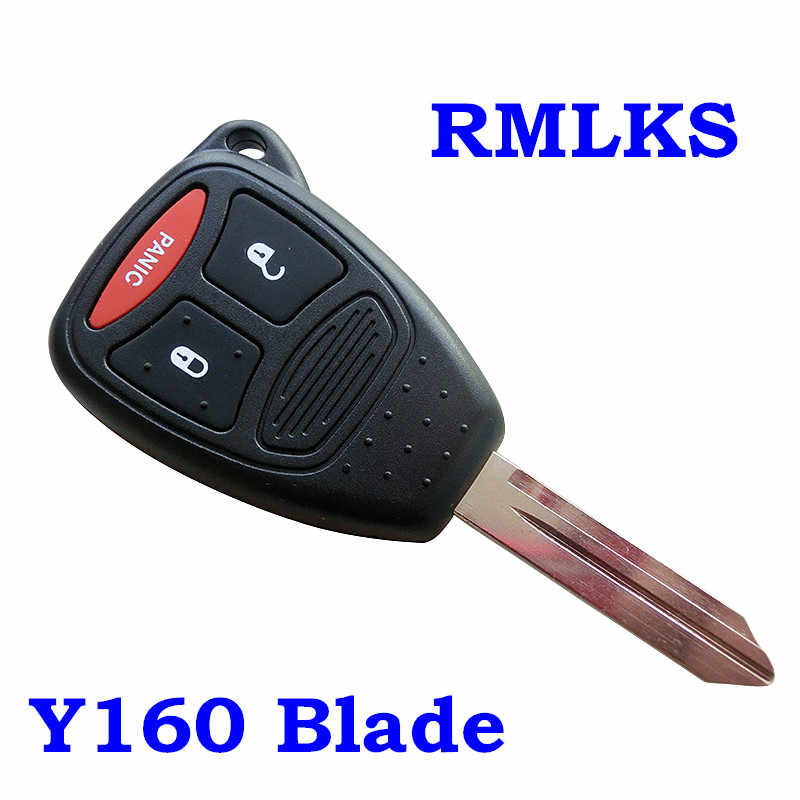 New Remote Head Key Keyless Fob Replacement Case Housing Shell 2/3/4/2+1  Button Pad KOBDT04 For Chrysler Sebring 300C