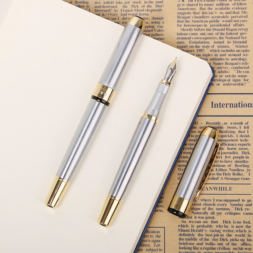 1 PC Metal Brand Fountain Pen Iraurita Pen Study Business Fountain Pen Gifts Decor Executive Caneta