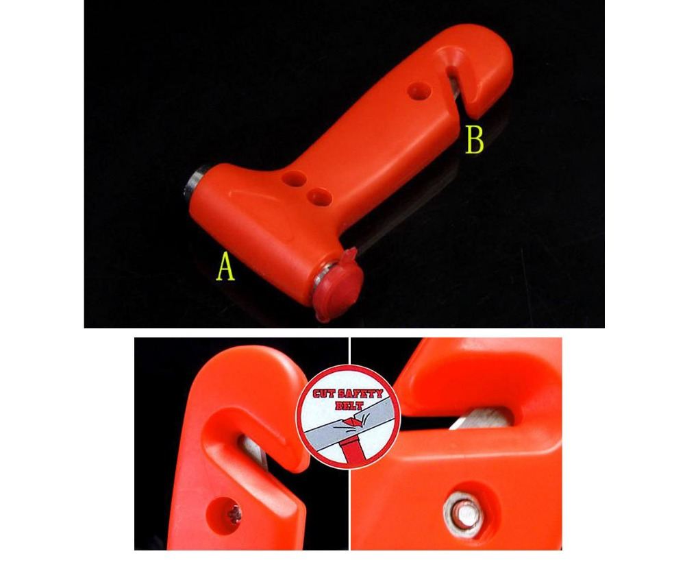 Car Bus Safety Escape Window Breaker Emergency Hammer Seat Belt Cutter Tool H021