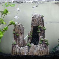 9.5 Saim Aquarium Simulation Resin Rockery Big Size Fish Tank Aquatic Pet Ornament Aquarium Decorations Cave Stone Rockery