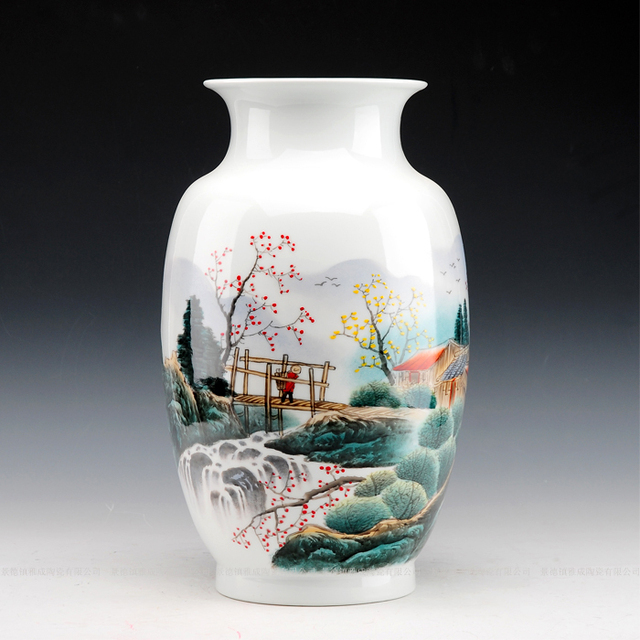 Ceramic Hand Painting Ceramic Vase Methos Knobbing Modern Fashion