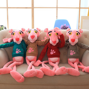 Image 5 - 1PC 55 150CM High Quality Big Size Baby Toys Plaything Cute Naughty Pink Panther Plush Stuffed Doll Toy Home Decor Kids Gift