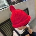 Cute Autumn Winter Children Woolen Hat Fashion Kids Nipple Woolen Knitted Hat