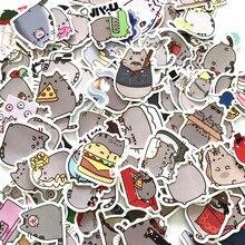 100 шт./лот наклейки с мультяшным котом для сноуборда ноутбука чемодана автомобиля холодильника автомобильного стайлинга виниловые наклейк...