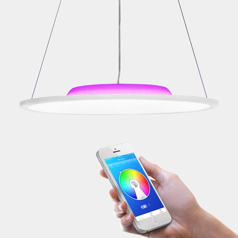 OFFDARKS LCD YB 36 36W LED de Control remoto altavoz inteligente Bluetooth luz colgante - 3