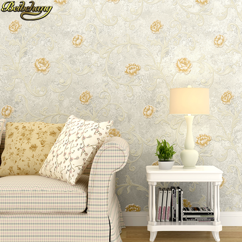 beibehang papel de parede 3d Pastoral flowers wall paper roll wallpaper for living room bedroom wall papers home decor painting beibehang papel de parede 3d embossed velvet continental 3d wall paper wallpaper roll for living room wall covering decor