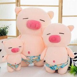 Плюшевая игрушка в виде милой свиньи с пляжными шортами, 25/35/50 см, мягкая искусственная кожа, милый Рождественский подарок для детей, милый п...