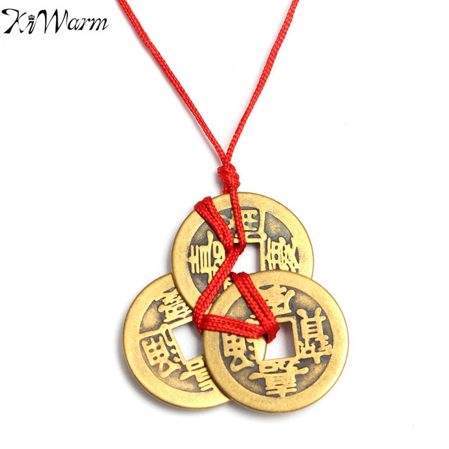 Kiwarm On Sale 3pcs Vintage Chinese Lucky Feng Shui Coins For Health