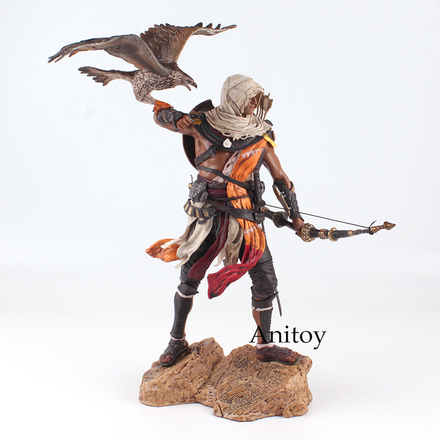 Assassins Creed Assassin's Creed Origines Bayek Protecteur with his eagle PVC Action Figure Model Toy Gift 28cm 5