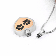 Pet Cremation Jewelry With Paw Print