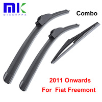 Combo Silicone Rubber Front And Rear Wiper Blade For Fiat Freemont 2011 Onwards Windscreen Wiper Car
