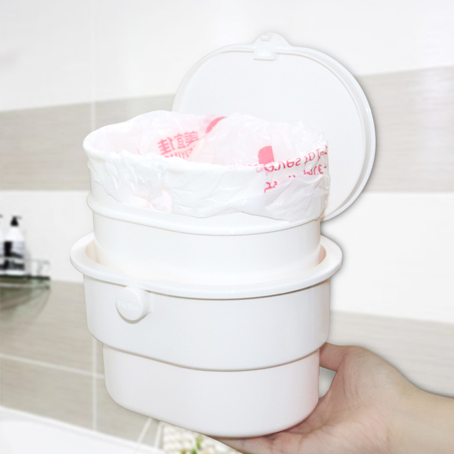Leluo Bathroom Mini Trash Can Kitchen Products Cubo Basura Convenient Detachable Wall Mounted Bin