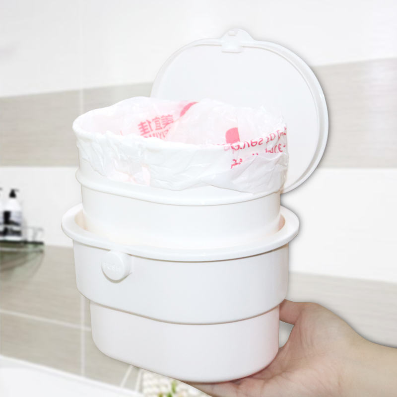 LeLuo Bathroom Mini Trash Can Kitchen Products Cubo Basura Convenient Detachable Wall-Mounted Trash Bin Strong Load-Bearing 3KG