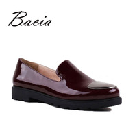 Bacia 2017 Shoes Woman Genuine Leather Flats Ladies Shoes High Quality Shoes For Women Top Casual