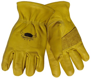цена на Leather Work Glove Cow Grain Leather Safety Glove TIG MIG Welding Gloves Leather Driver Gloves