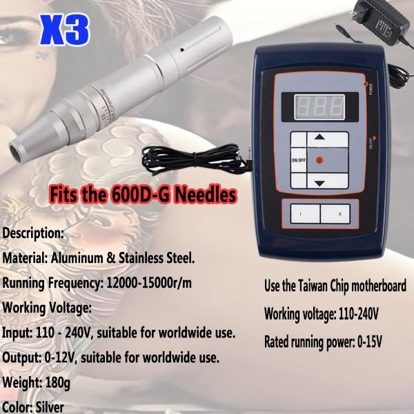 2014-New-Design-X3-Professional-Permanent-Makeup-Rotary-Tattoo-Machine-Gun-with-Power-Cord-Kits-Supplies-Free-Shipping-kits