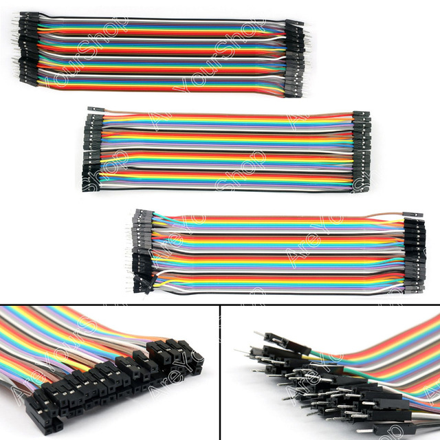 Areyourshop 120Pcs Dupont Wire Male To Male + Male To Female + Female To Female Jumper Cable for Arduino Breadboard New Arrival