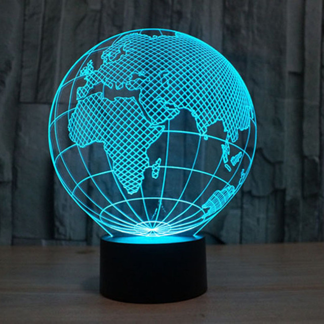 3D Optical Illusion Night Light Lamp 7 Colors-Changing Desk Lamp LED Table  Light Amazing - 3D Optical Illusion Night Light Lamp 7 Colors Changing Desk Lamp