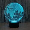 3D Optical Illusion Night Light Lamp 7 Cores-Em Mudança da Lâmpada de Mesa LEVOU Mesa de Luz Incrível Ilusão de Ótica Iluminação Terra globo