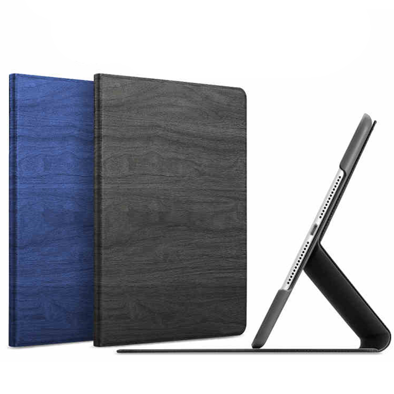 Wood Grain PU Leather Tablet Cover for Apple ipad Air 1 Ipad 5 Stand Case for ipad Air 2 ipad 6 +Screen Protector + Stylus Pen flip left and right stand pu leather case cover for blu vivo air