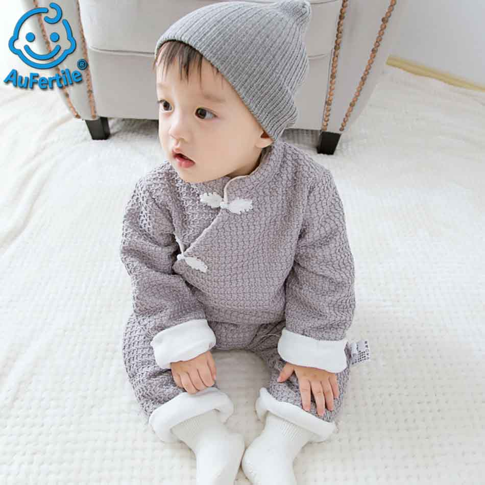 Chinese Style Tradition Baby Winter Rompers Cotton Newborn Baby Infant 0-24M Baby Girls Boys Clothes Jumpsuit Romper Baby Cloth mother nest baby romper 100% cotton long sleeves baby gilrs pajamas cartoon printed newborn baby boys clothes infant jumpsuit