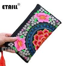 Этнический Hmong Бохо тайский вышитый кошелек клатч Мобильный телефон сумка Монета Сумка, кошельки известный роскошный бренд клатч Embrague кошелек