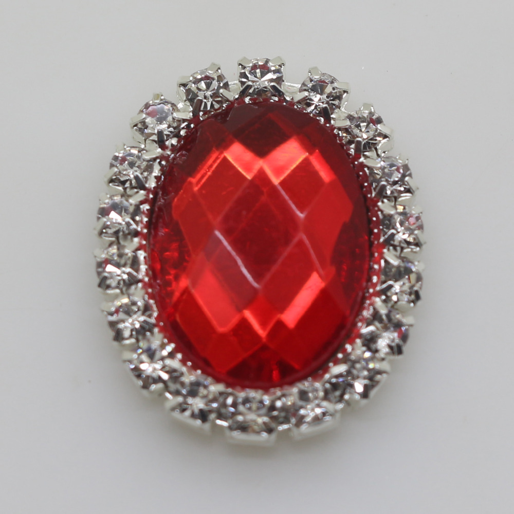Hot sale 10pc Mixed size red crystal class buttons 2017 wedding ...