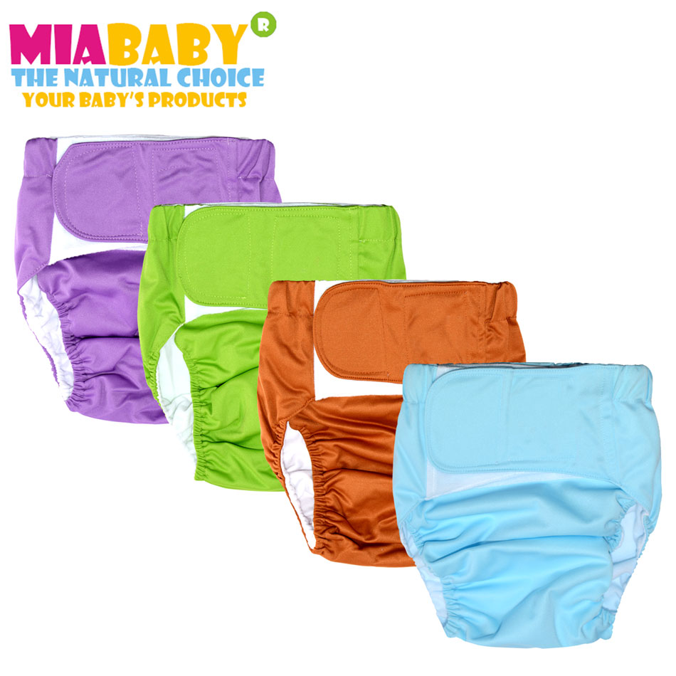 Miababy (3pcs/lot) Cloth Diaper for Adult,Children and Grandparents, washable and reusable.