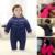 2017 Novos Macacão de Bebê Inverno Quente e Macio Do Bebê Macacão de Bebê Recém-nascido Roupa Infantil Para Baixo Roupas de Algodão Espessamento Inverno 0-18 M