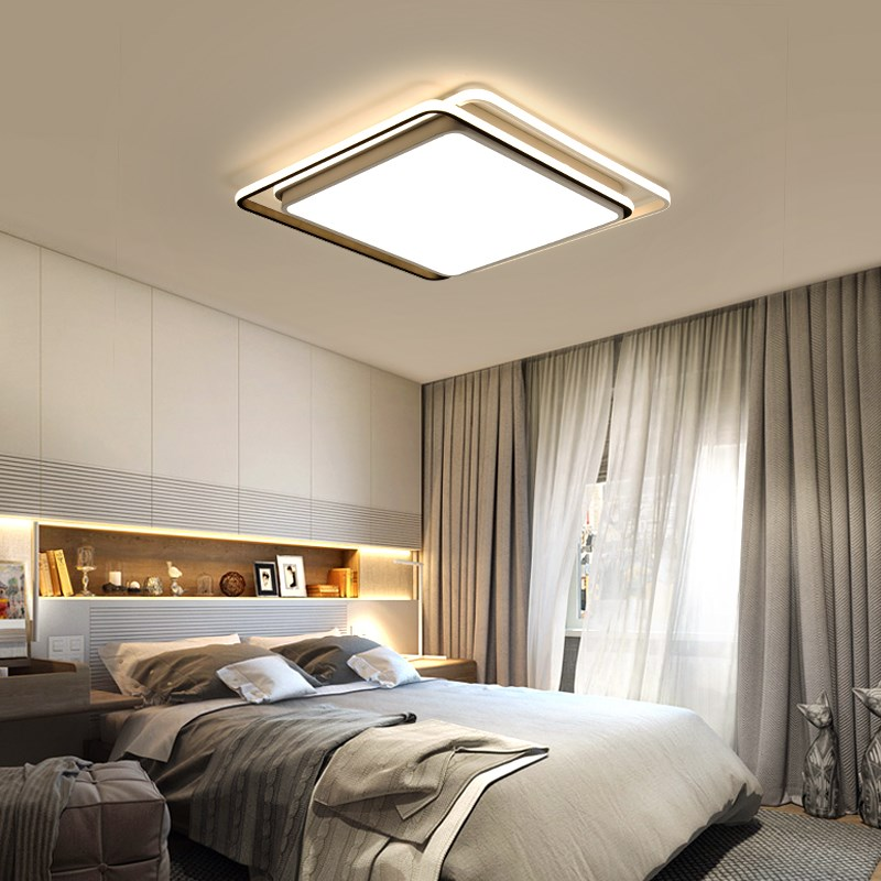 Fashion Square Personality Led Ceiling Lights Creative