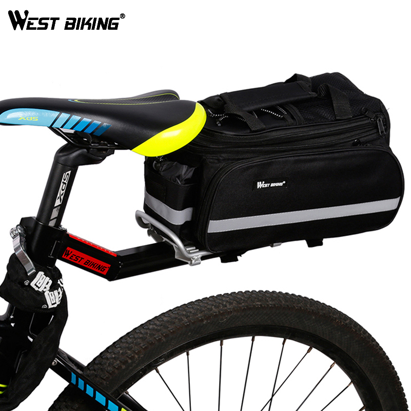 WEST BIKING 65kg Capacity Bike Racks font b Bag b font Bike Luggage V Brake Disc