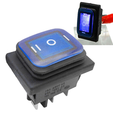Waterproof Automobiles Accessories Marine Hardware Car Parts On Off Rocker Switch Plastic