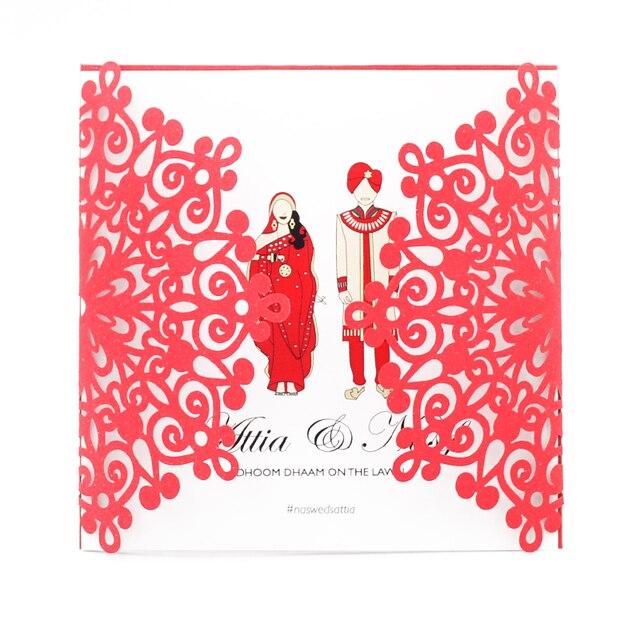 Wedding Cards Invoitation 2018 Laser Cut Indian And Arabic Wedding