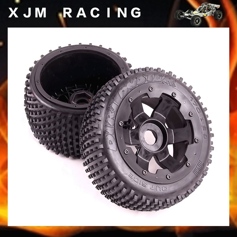 1/5 rc car Rear off-road wheel tire (x 2pcs/set) fit hpi rovan baja 5b toy parts baja 5b off road rear tyres for 1 5 gas rc car hpi baja 5b parts rovan km