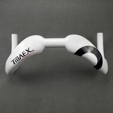 White  Carbon Cycling Track Sprinter Bar 370/385mm Black Carbon Handlebar 31.8mm White/Glossy Competition Racing Hectic Bars недорого
