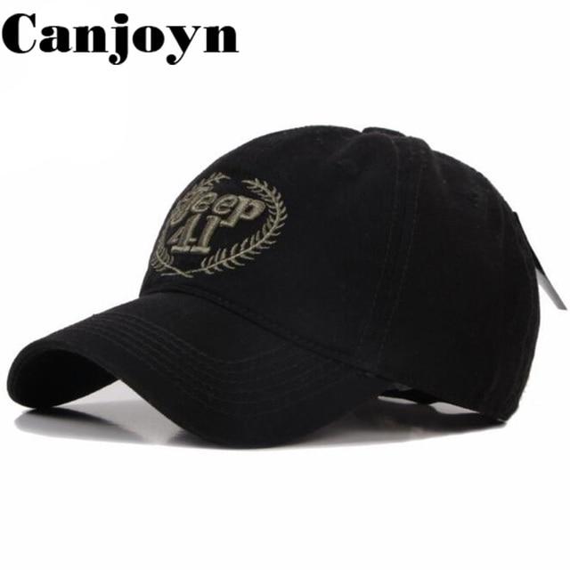 2f4e1cd5533 Canjoyn High quality Casquette de Baseball Cap Jeep 41 Snapback Dad hat  bone feminino Caps Hat Gift