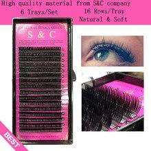 S&C 6 cases set, high-quality mink eyelash extension,individual eyelashes ,nature eyelashes.